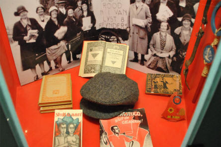 Some of the many every day items from World War II displayed at the Dutch Resistance Museum in Amsterdam.