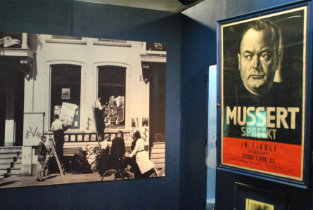 The story of the Dutch Nazi party is also displayed at the Dutch Resistance Museum in Amsterdam.