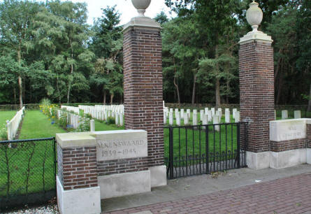The entrance to the Valkenswaard War Cemetery.
