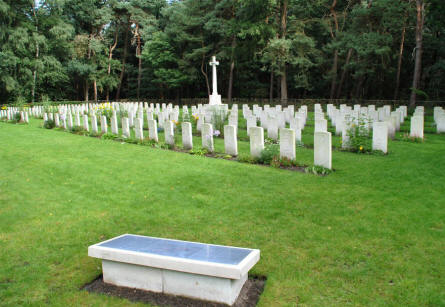 A section of the Valkenswaard War Cemetery.