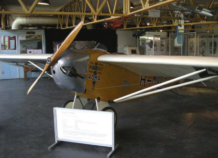"A historic record breaking Lampich L-2 ""Roma"" aircraft displayed at the Budapest Aviation Museum - Közlekedési Transport Museum."