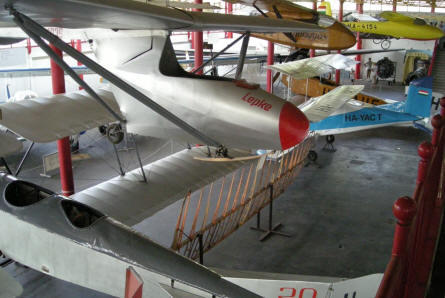 Some of the many gliders that are displayed at the Budapest Aviation Museum - Közlekedési Transport Museum.