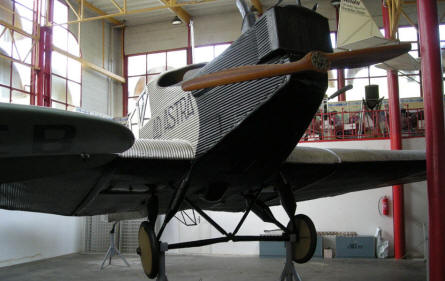 A Junkers F-13 displayed at the Budapest Aviation Museum - Közlekedési Transport Museum. This aircraft is one of the stars of this museum.