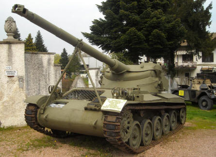 A vintage Italian self-propelled gun displayed at the Museum Gottard Park.
