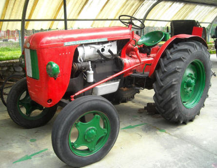 One of the many vintage tractors displayed at the Museum Gottard Park.