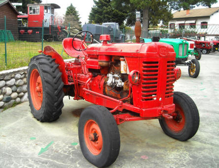 Some of the many vintage tractors displayed at the Museum Gottard Park.