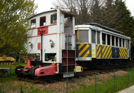Some of the vintage railway equipment displayed at the Museum Gottard Park.