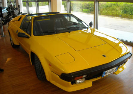 A Lamborghini Jalpa displayed at the Lamborghini museum in Sant'Agata Bolognese.