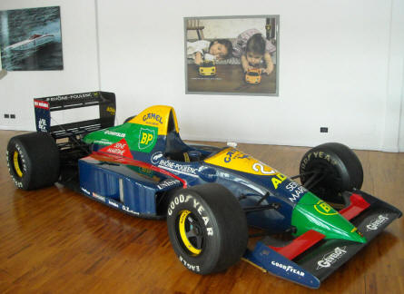A Lola Larousse LC 89 F1Formula 1 racer - with a Lamborghini engine - displayed at the Lamborghini museum in Sant'Agata Bolognese.