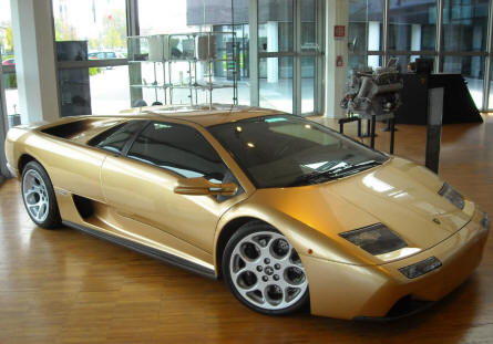 A Lamborghini Diablo 6.0 SE displayed at the Lamborghini museum in Sant'Agata Bolognese.