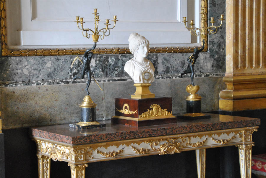 Some Of The Vintage Furniture Displayed At The Royal Palace Of Caserta.