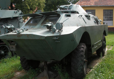 One of the many armoured vehicle displayed at the Armoured Weapon Museum - Poznan.
