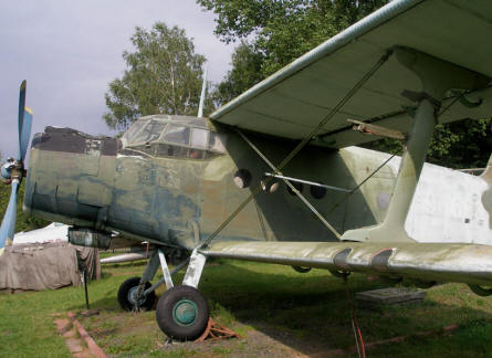 An Antonov An-2 displayed at the Poznan Army Museum.