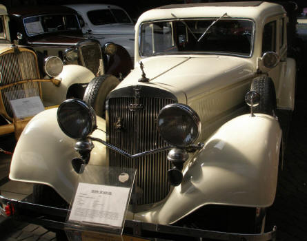 A Horch 830 BL from 1938 displayed at the Motorisation Museum at in Otrębusy.