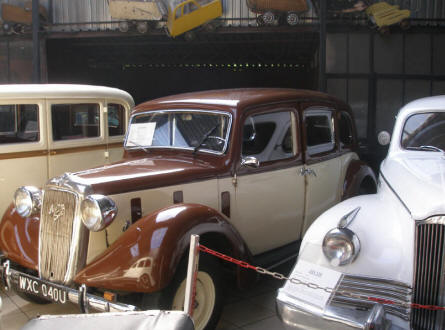 An Austin Six and a ZIS 110 displayed at the Motorisation Museum at in Otrębusy.