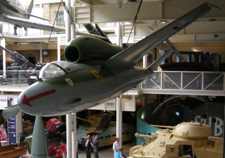 German World War II Heinkel He-162 at the Imperial War Museum in London.