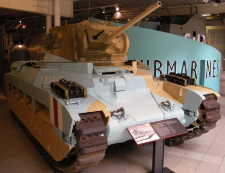 British World War II Matilda tank at the Imperial War Museum in London.