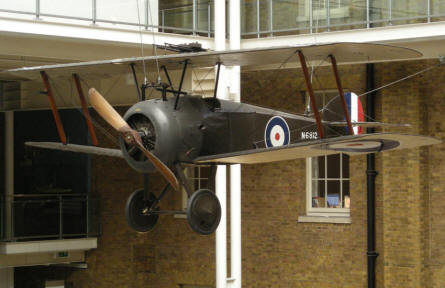 World War I Sopwith Camel at the Imperial War Museum in London.