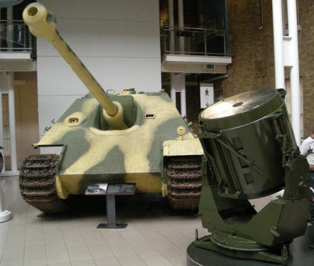 German World War II tank destroyer at the Imperial War Museum in London.