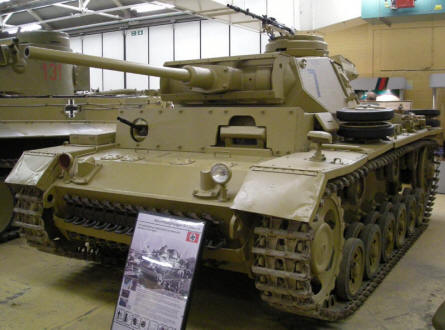 German World War II Panzer at Bovington Tank Museum.