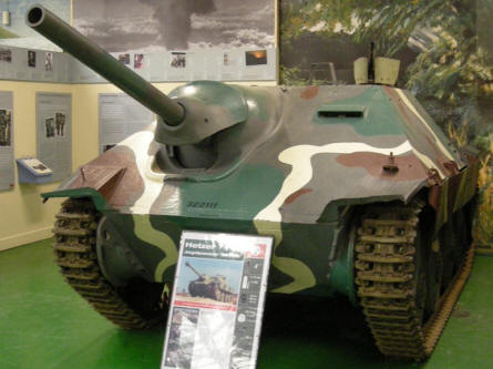 German World War II Hetzer tank destroyer at Bovington Tank Museum.