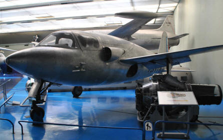 One of the many prototypes - Sud-Ouest SO.6000 Triton - displayed at the Le Bourget Museum of Air & Space in Paris.