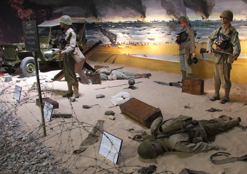 World War Ii Full Size Omaha Beach Landing Diorama At Memorial Museum Click On Image To Get A Larger Picture