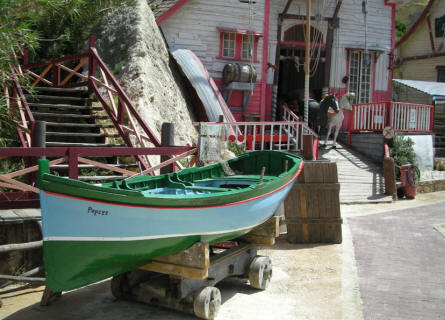 Popeye's boat at Sweet Haven - Popeye Village.