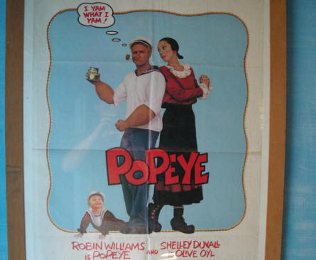 "A poster from the Hollywood musical ""Popeye"" can be seen at  the Sweet Haven - Popeye Village."